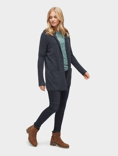 Tom Tailor 3/4-Arm-Shirt gemustertes Shirt mit Crinkles