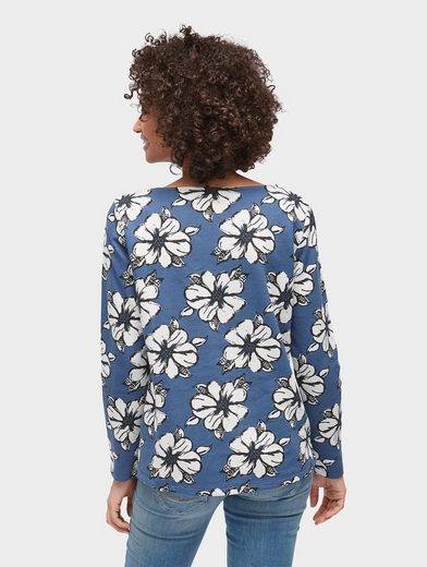 Tom Tailor Sweatshirt Langarmshirt mit floralem Muster