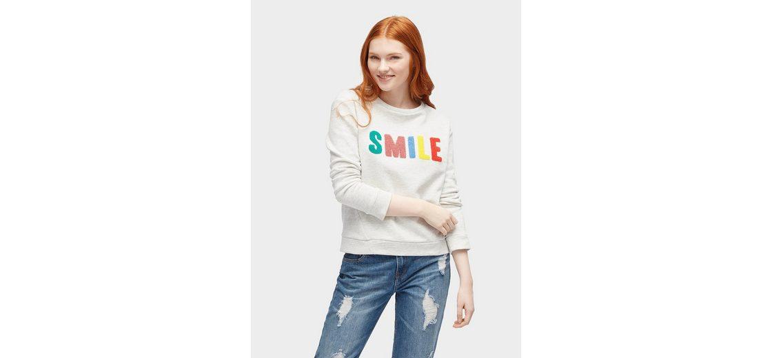 Freies Verschiffen Angebote Tom Tailor Denim Sweatshirt Sweatshirt mit Patches Die Besten Preise Günstiger Preis Billig Verkauf Online-Shopping Beste PrKU8l