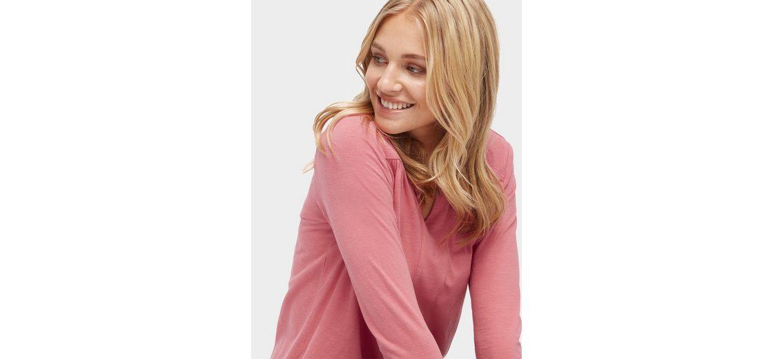 Tom Tailor Langarmshirt Bluse mit elastischem Bund Online Ansehen Perfekte Online-Verkauf 5pXKUWPpBj