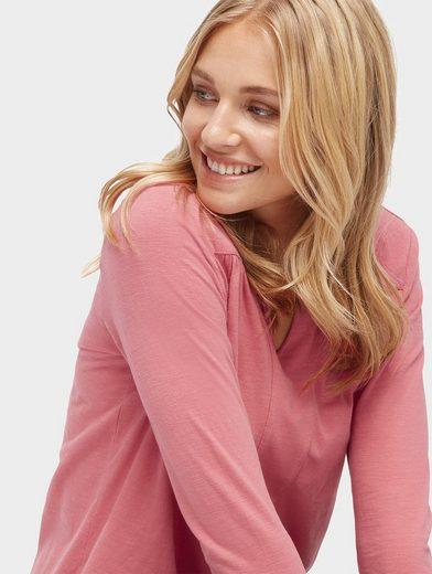 Tom Tailor Langarmshirt Bluse mit elastischem Bund