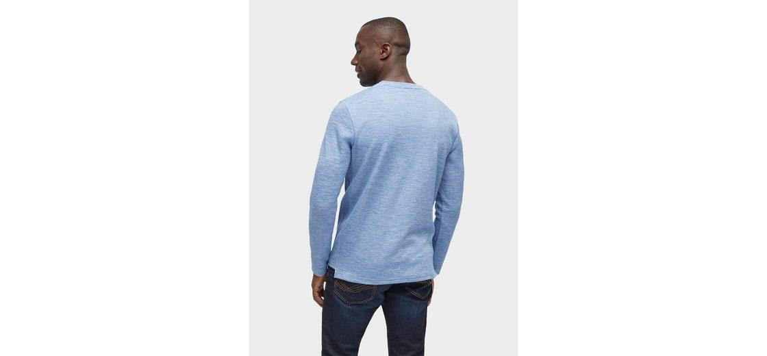 Sie Günstig Online Authentisch Verkauf Sammlungen Tom Tailor Langarmshirt gestreiftes Shirt mit Brusttasche MC87LnZ