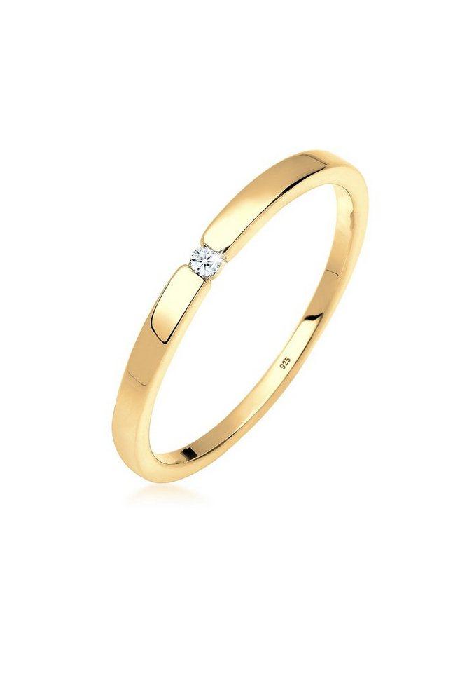 Diamore Ring »Verlobungsring Klassiker Diamant (0.02 ct.) Silber« - Preisvergleich