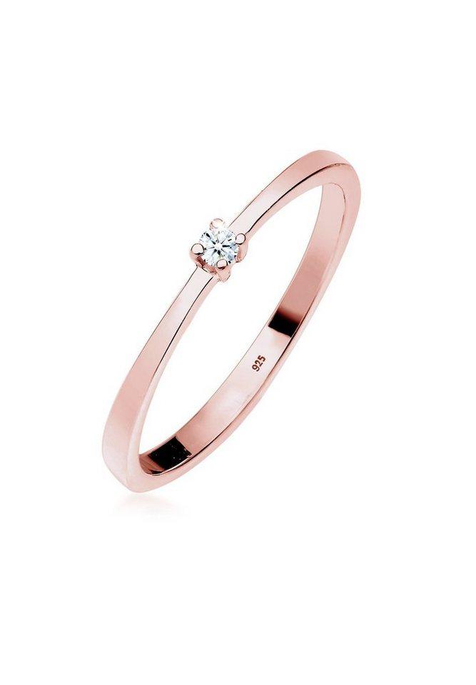 Diamore Ring »Verlobung Solitär Diamant (0.03 ct.) Silber Mele« - Preisvergleich