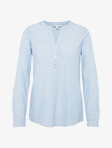Tom Tailor Denim Langarmbluse schlichte Bluse mit Turn-Ups