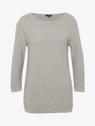 Tom Tailor Rundhalspullover Sweatshirt mit Struktur