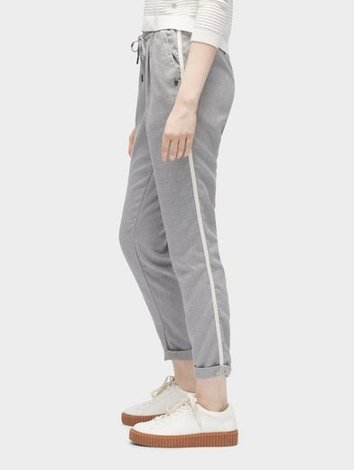 Tom Tailor Denim Chinohose Loose-Fit Hose mit seitlichem Tape