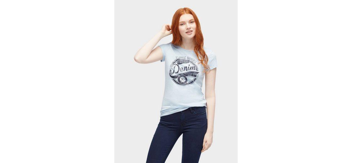 Tom Tailor Denim T-Shirt T-Shirt mit Logo-Print vorne Wirklich Billige Schuhe Online Geschäft 6MyqLAR4K