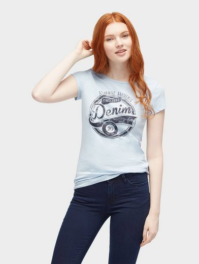 Tom Tailor Denim T-Shirt T-Shirt mit Logo-Print vorne
