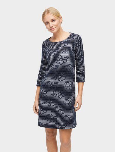 Tom Tailor Jerseykleid gestreiftes Kleid aus Jacquard