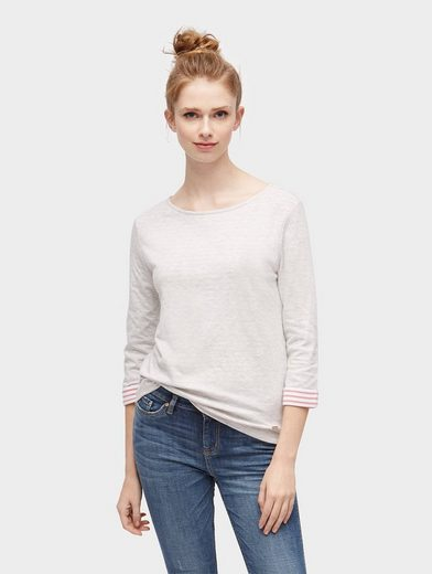 Tom Tailor Denim 3/4-Arm-Shirt Langarmshirt mit Turn-Ups