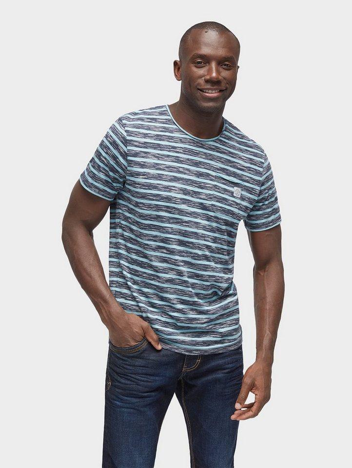 tom tailor t shirt gestreiftes t shirt mit brusttasche. Black Bedroom Furniture Sets. Home Design Ideas