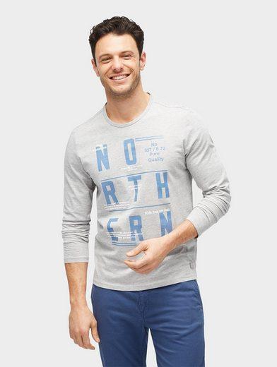 Tom Tailor Langarmshirt Langarmshirt mit Schrift-Print