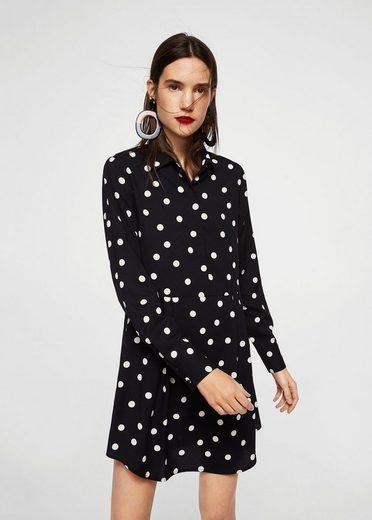 MANGO Kleid mit Punktemuster