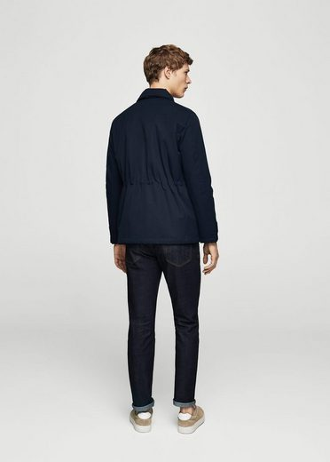 MANGO MAN Baumwoll-Nylon-Fieldjacket