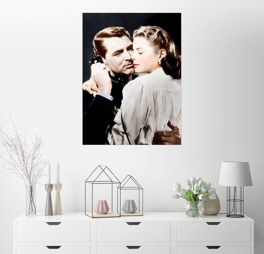 Posterlounge Wandbild »NOTORIOUS, von links: Cary Grant, Ingrid Berg...«