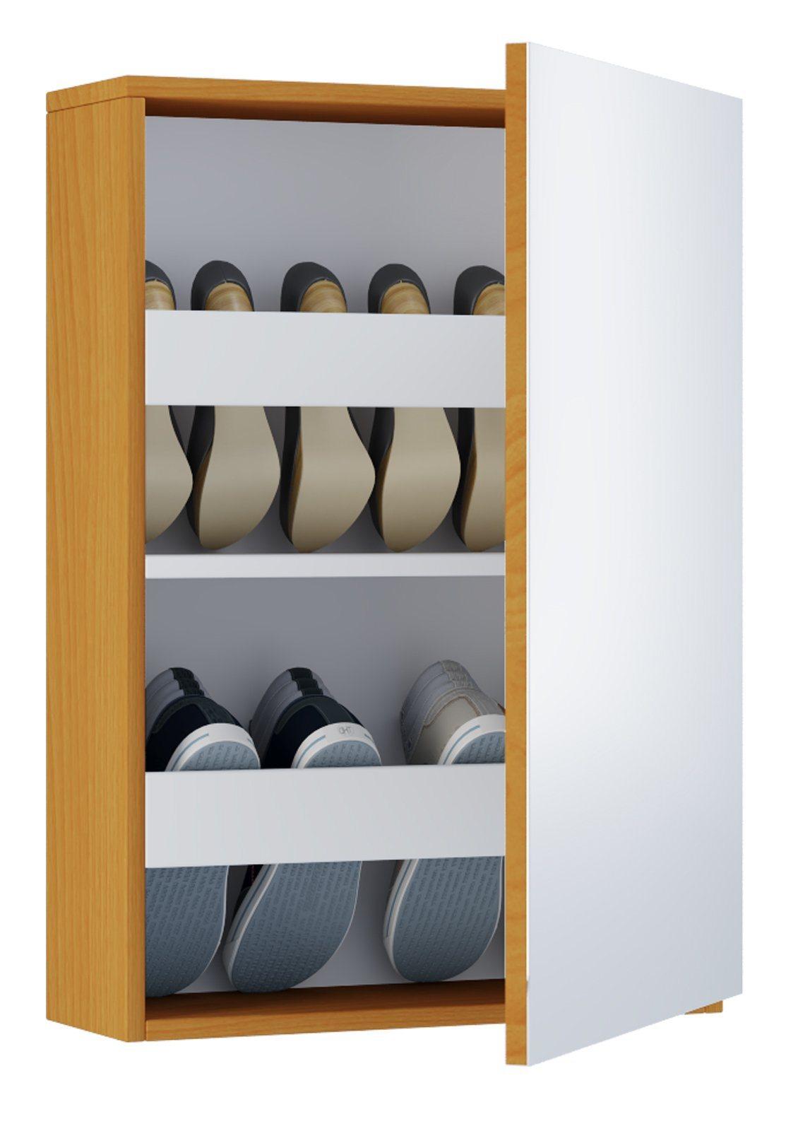 schuhschrank mit spiegel preisvergleich die besten. Black Bedroom Furniture Sets. Home Design Ideas