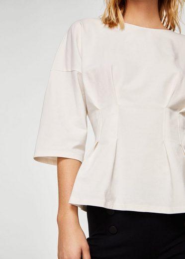 MANGO T-Shirt mit Faltendetails