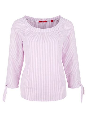 S.oliver Red Label Striped Blouse With Hole Pattern