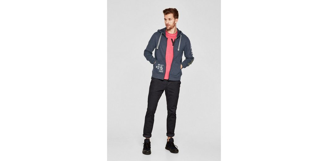 s.Oliver RED LABEL Tall Size: Sweatshirt-Jacke mit Kapuze Breite Palette Von aOYiJEG9q