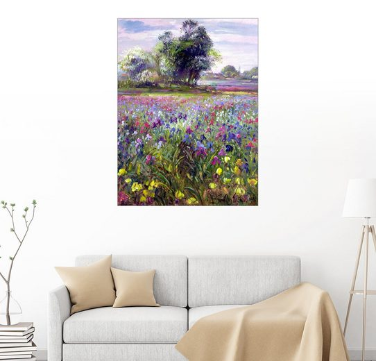 Posterlounge Wandbild - Timothy Easton »Blumenfeld mit Baum«