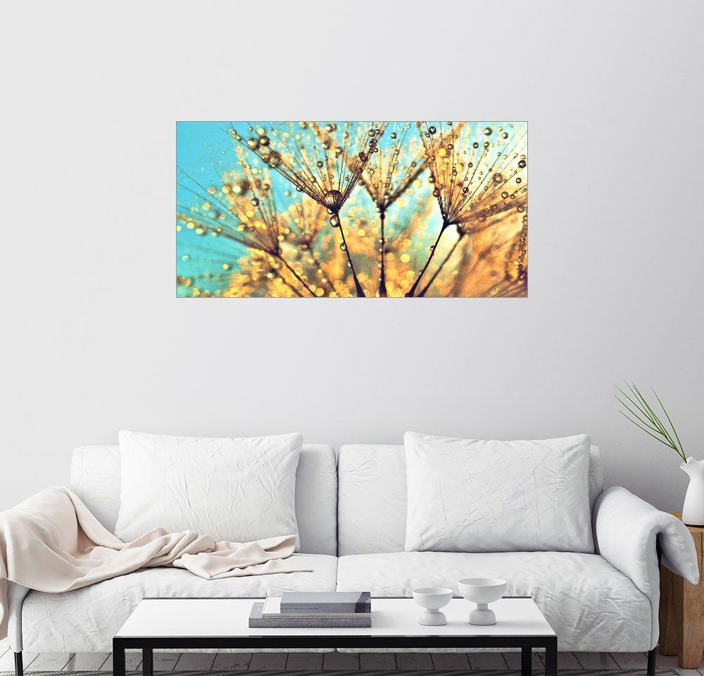 Posterlounge Wandbild - Julia Delgado »Pusteblume Magic Time« | Dekoration > Bilder und Rahmen > Bilder | Holz | Posterlounge