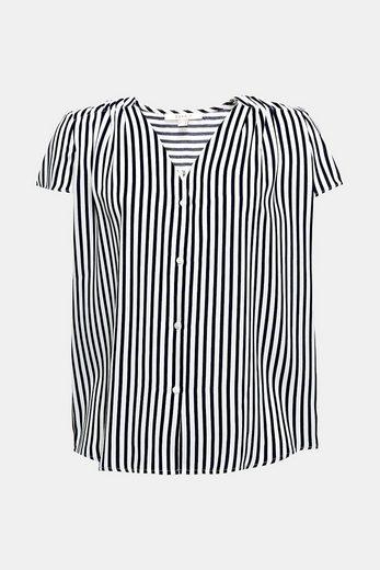ESPRIT Leichte Print-Bluse mit Fältchen-Details