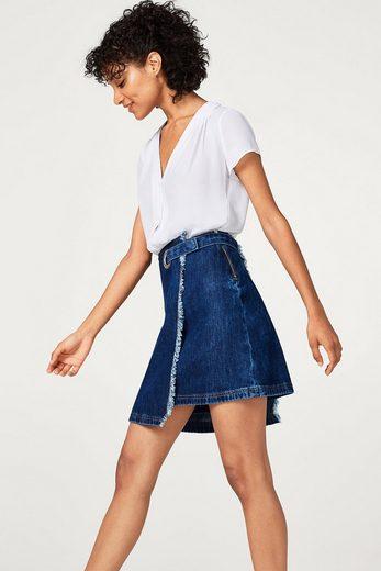 ESPRIT Zarte Georgette-Bluse mit Schulterfältchen