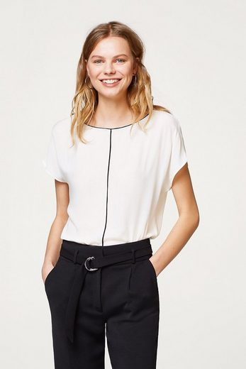 Esprit Collection Delicate Structure-shirt With Piping