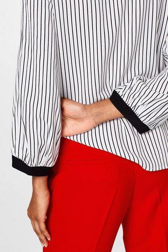 ESPRIT COLLECTION Leichte Struktur-Bluse mit Streifen