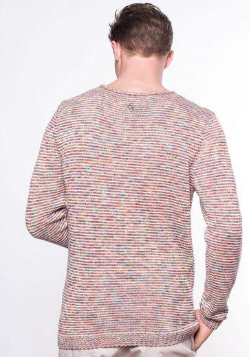 colours & sons Strickpullover aus Mouliné, Effektgarn