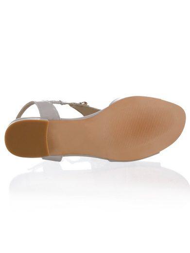 Sandalette Alba Moda En Cuir Verni