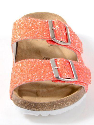 Alba Moda Pantolette mit Glitter besetzt