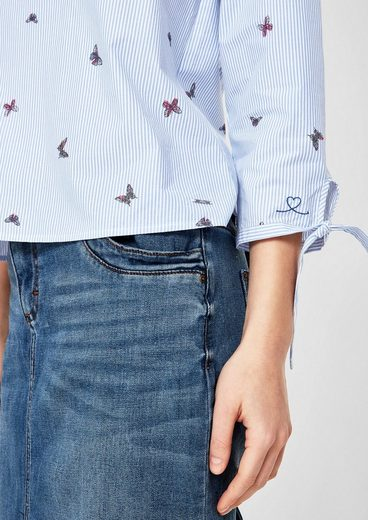 s.Oliver RED LABEL Bluse mit Butterfly-Print