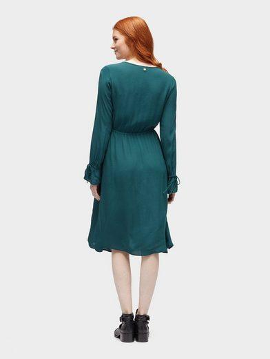 Tom Tailor Denim Blusenkleid Kleid mit Falten und Volantärmeln