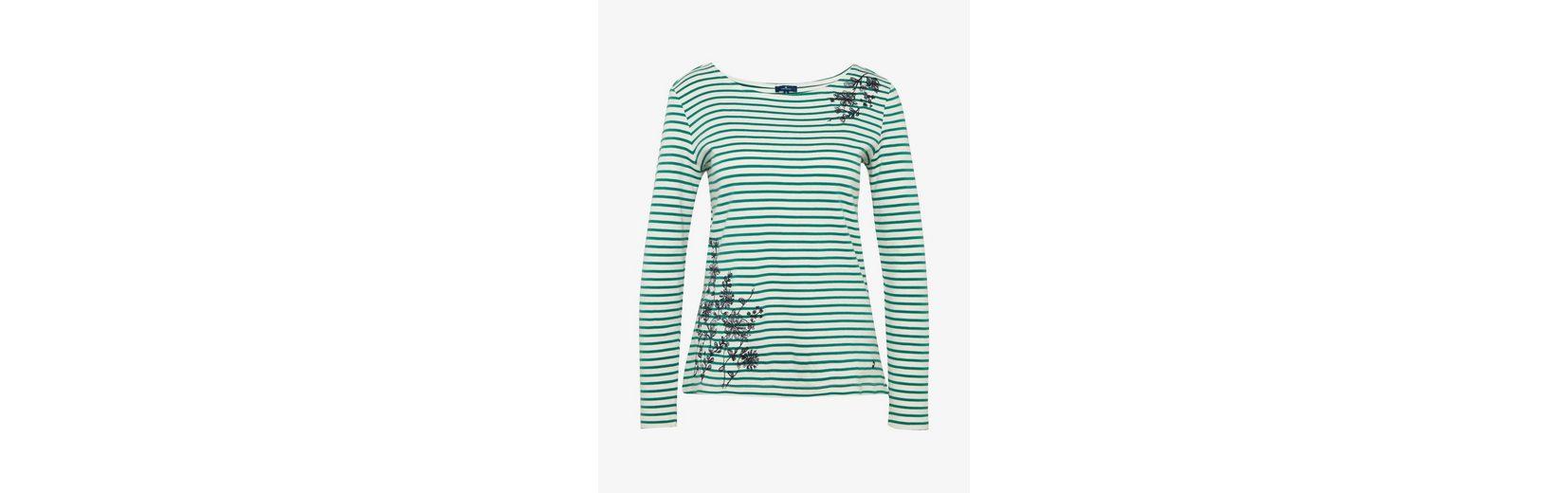 Rabatt Footlocker Finish Tom Tailor Langarmshirt gestreiftes Shirt mit Stickerei Geniue Händler Verkauf Online Verkauf Neuer Dbn66xrLM