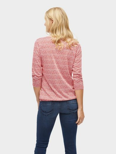 Tom Tailor 3/4-Arm-Shirt gemusterte Bluse