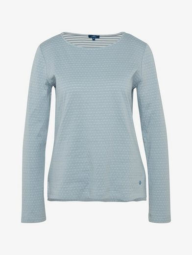 Tom Tailor Sweatshirt Gepunktetes Sweatshirt
