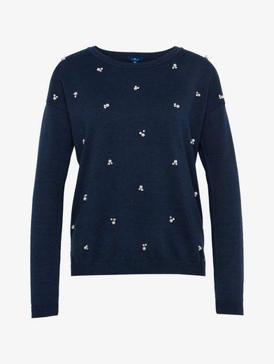 Tom Tailor Strickpullover Pullover mit Applikationen