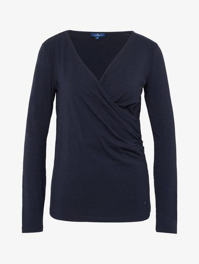 Tom Tailor Langarmshirt Shirt In Wrap Optics
