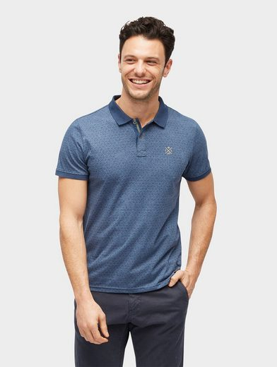 Tom Tailor T-Shirt gemustertes Polo-Shirt