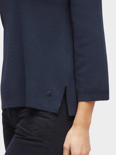 Tom Tailor Rundhalspullover Pullover mit ausgestellten Ärmeln