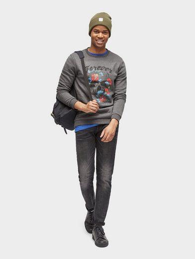 Tom Tailor Denim Sweatshirt Sweatshirt mit Motiv-Print