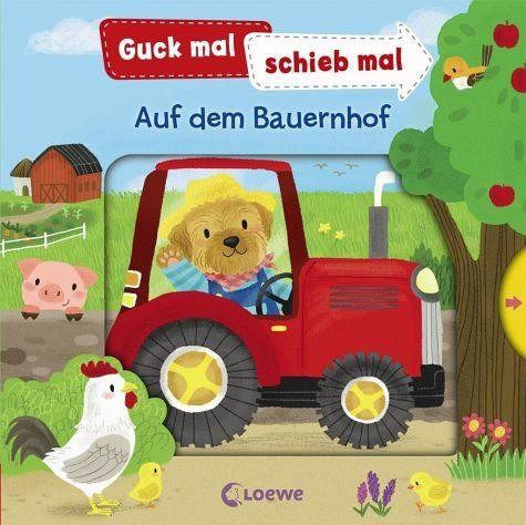 Buch mit Papp-Einband »Guck mal, schieb mal! Auf dem Bauernhof«