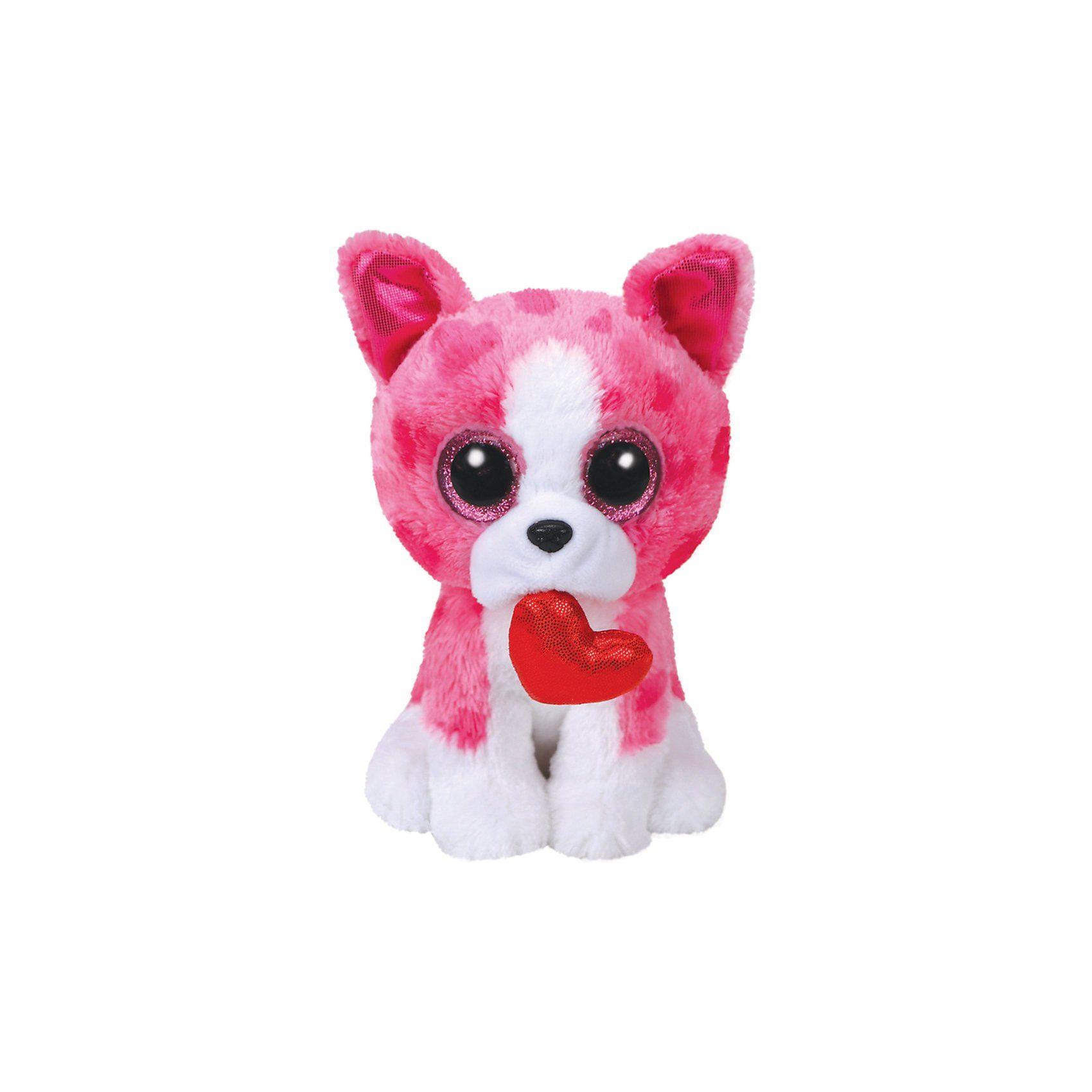 Ty® Romeo, Hund pink m. Herz 15cm