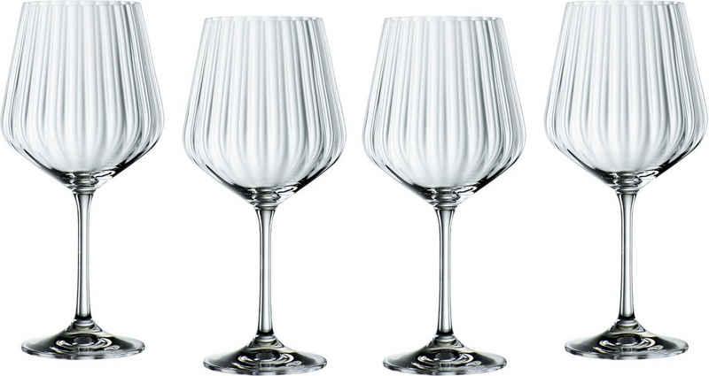 Nachtmann Cocktailglas »Optic«, Kristallglas, Gin Tonic, 640 ml, 4-teilig