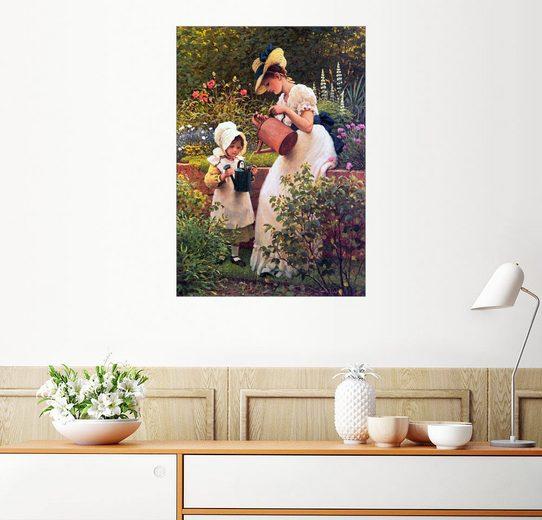 Posterlounge Wandbild - George Dunlop Leslie »Gartenarbeit«
