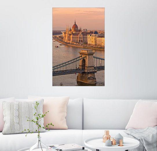 Posterlounge Wandbild - Fine Art Images »Budapest Abendstimmung«