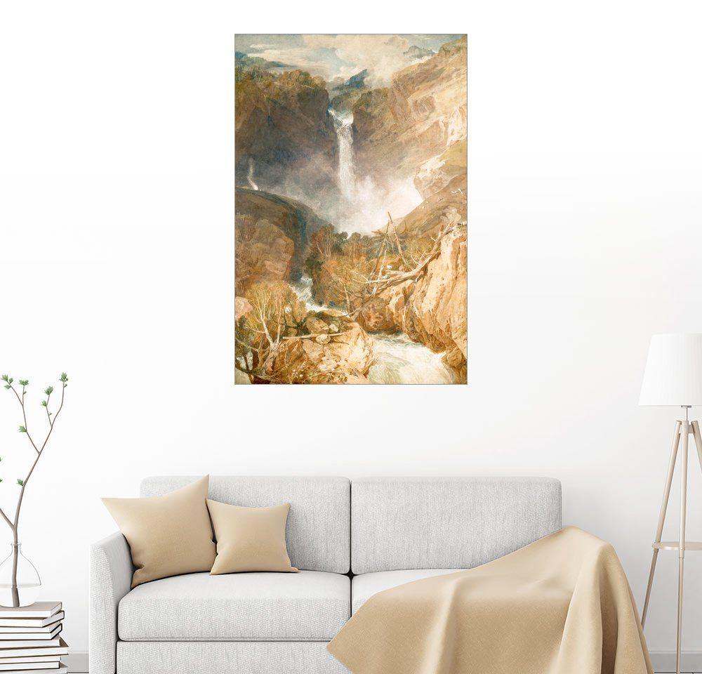 Posterlounge Wandbild - Joseph Mallord William Turner »Wasserfälle des Reichenbach«