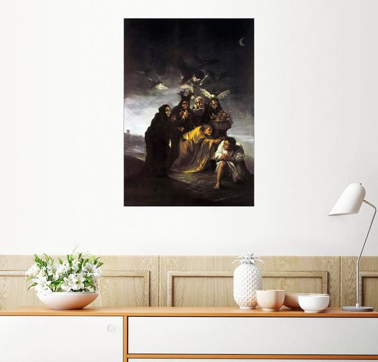 Posterlounge Wandbild - Francisco José de Goya »Der Zauber, Die Hexen«